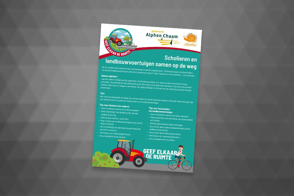 Flyer Gemeente Alphen-Chaam
