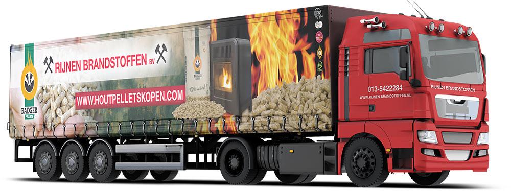 Vrachtwagen belettering Rijnen Brandstoffen